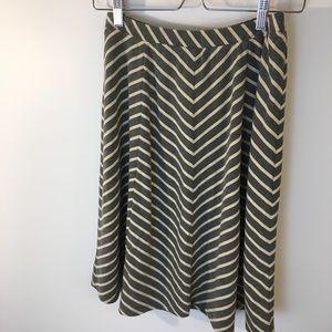 Sundance Casual Jersey Striped Knee-Length Skirt